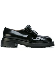 Marni Fringed Loafers Black