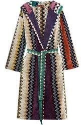 Missoni Home Taylor Cotton Terry Robe Blue