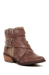 Not Rated Deep Trouble Knit Short Boot Brown