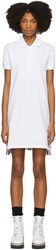 Thom Browne White Short Sleeve A Line Polo Dress