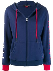 Perfect Moment Zipped Hoodie Blue