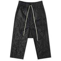 Rick Owens Drkshdw Cropped Drawstring Quilted Pant Black
