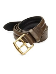 Polo Ralph Lauren Saddle Strap Leather Belt Olive