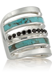 Pamela Love Inlay Silver Turquoise And Spinel Ring