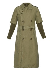 Nlst Detachable Wool Blend Lining Trench Coat