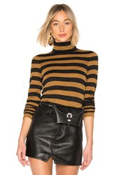 Alice Olivia Roberta Turtleneck Sweater Burnt Orange