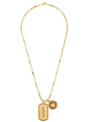 Versace Medusa Logo Tangle Necklace Metallic