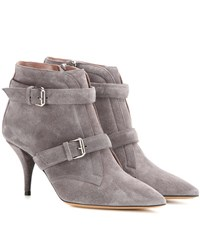 Tabitha Simmons Fitz 75 Suede Ankle Boots Grey