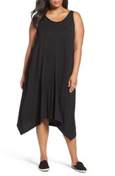 Sejour Plus Size Women's Jersey Sharkbite Hem Tank Dress