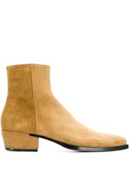 Givenchy Pointed Toe Ankle Boots Neutrals