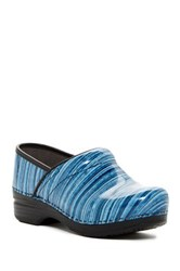 Dansko Pro Xp Striped Patent Clog Blue