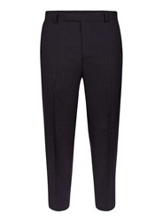 Topman Blue Navy Wide Leg Cropped Fit Pants