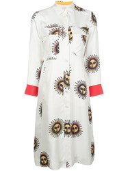 Paul Smith Long Sleeved Shirt Dress White