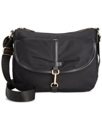 Calvin Klein Dressy Nylon Messenger Black Gold