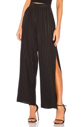 Bcbgeneration Side Split Palazzo Pant Black