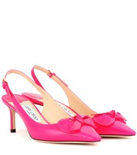 Jimmy Choo Blare 60 Patent Leather Sling Back Pumps Pink