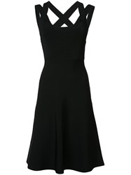 Alexander Wang T By Cross Back Skater Dress Black
