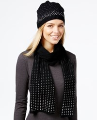 Rampage Rhinestone Hat And Scarf Gift Set