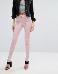Replay Touch Super High Rise Skinny Jeans Pink