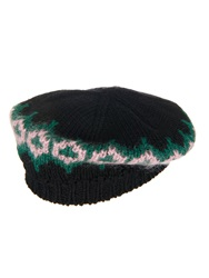 Gucci Intarsia Knit Wool Beret Hat