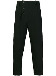 Lost And Found Ria Dunn Cropped Trousers Linen Flax Ramie Cotton Black