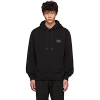 Dolce And Gabbana Black Plaque Hoodie