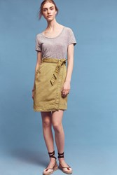 Anthropologie Pilcro Asymmetrical Chino Skirt Green