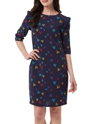 Sugarhill Boutique Brodie Scribble Hearts Tunic Navy