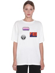 Maison Martin Margiela Cotton Jersey T Shirt W Stickers White