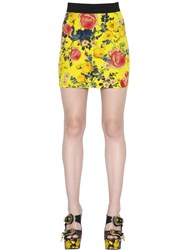 Fausto Puglisi Printed Silk Crepe De Chine Mini Skirt