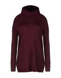Komodo Knitwear Turtlenecks Women Maroon