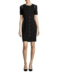 Elie Tahari Toggle Sheath Dress Black