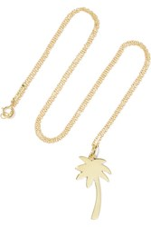 Jennifer Meyer Large Palm Tree 18 Karat Gold Necklace