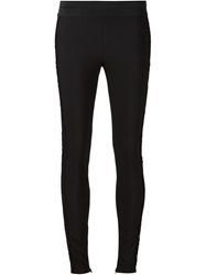Stella Mccartney Embroidered Detail Leggings Black