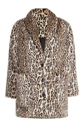The Kooples Leopard Print Faux Fur Jacket Animal Prints