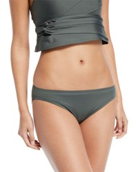 Carmen Marc Valvo Coastal Twist Solid Bikini Swim Bottoms Green
