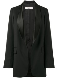 Golden Goose Deluxe Brand Satin Collar Tuxedo Jacket Women Cotton Polyester Acetate Virgin Wool L Black