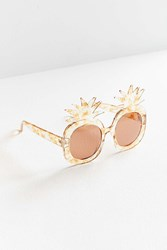 Urban Outfitters Oversized Pineapple Sunglasses Neutral