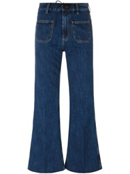 Aries Flared Jeans Blue