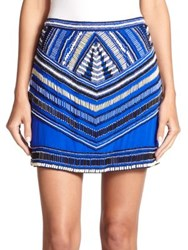 Karina Grimaldi Draco Silk Beaded Skirt Royal