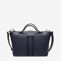 Bally Women's Bovine Leather Bowling Bag In Marine