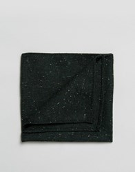 Asos Pocket Square In Green Warm Handfeel Texture Green