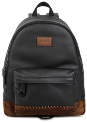 Coach Rip And Repair Campus Leather Backpack Black