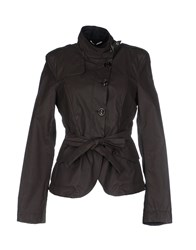 Dek'her Coats And Jackets Jackets Women Dark Brown