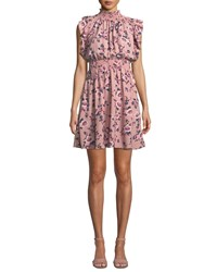 Kate Spade Sleeveless Prairie Rose Mini Dress Pink