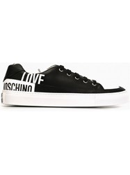 Love Moschino Logo Print Sneakers Black