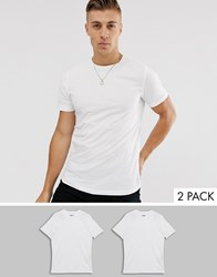 Produkt 2 Pack Organic Cotton T Shirts In White