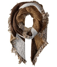 San Diego Hat Company Bss1535 Nubby Tweed Scarf With Fray Edges Brown Scarves