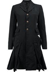 Comme Des Garcons Flared Buttoned Jacket Black