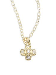 Ila Lida Diamond And 14K Yellow Gold Pendant Necklace